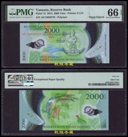 Vanuatu 2000 Vatu (2014) Polymer Handsigned(100 Folders Printed) AE Prefix - Vanuatu