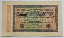 BILLET ALLEMAGNE - REPUBLIQUE DE WEIMAR - 1923 - P.85 - REICHSBANKNOTE - 20000 MARK - 20000 Mark