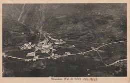 VAL DI SOLE MEZZANA VEDUTA PANORAMICA DALL'ALTO FORMATO PICCOLO ANNO 1947 VIAGG. - Trento