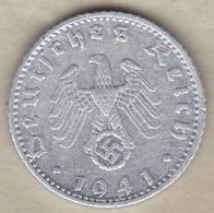 50 Reichspfennig 1941 F (STUTGART) Aluminium - [ 4] 1933-1945 : Third Reich