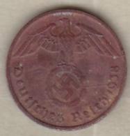 2 Reichspfennig 1938 D (MUNICH). Bronze - 2 Reichspfennig