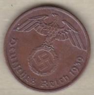 2 Reichspfennig 1939 A (BERLIN) Bronze - [ 4] 1933-1945 : Third Reich