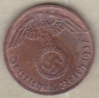 1 Reichspfennig 1937 F (STUTGART)  Bronze - [ 4] 1933-1945 : Third Reich