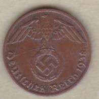 1 Reichspfennig 1938 A (BERLIN)  Bronze - [ 4] 1933-1945 : Tercer Reich