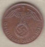 1 Reichspfennig 1938 A (BERLIN)   Bronze - [ 4] 1933-1945 : Third Reich