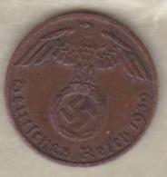 1 Reichspfennig 1939 B (HANNOVER)  Bronze - [ 4] 1933-1945 : Third Reich