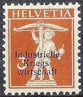 Schweiz  1918: Industrielle Kriegswirtschaft (IKW) Zu 1 Dünner Aufdruck (6mm) * Falz MLH (Zumstein CHF 270.00 - 50%) - Oficial