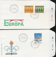 Luxembourg EUROPA 84 Los Angeles Olympics Runner Day Of Issue Cancel 1984 A04s - FDC