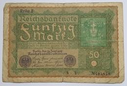 BILLET ALLEMAGNE - EMPIRE - P.66 - 50 MARK - 1919 - [ 2] 1871-1918 : Duitse Rijk