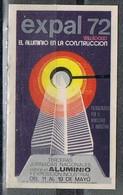 Viñeta VALLADOLID 1972. Feria EXPAL 72, Aluminio En La Construccion, Label, Cinderella * - Variedades & Curiosidades