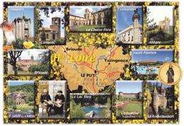 43 HAUTE LOIRE / GEOGRAPHIQUE ET MULTIVUES - Landkarten