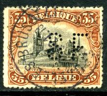 Belgique COB 142 ° Perforé - 1915-1920 Albert I
