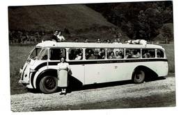 1949 - Carte Photo Route Des Pyrénées - Autocar - Autobus - 2 Scans - Buses & Coaches