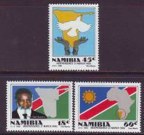 D101225 Namibia 1990 South West Africa INDEPENDENCE Nujoma MNH Set  - SWA Namibie Sudwes Afrika - Namibië (1990- ...)