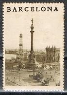 Viñeta BARCELONA, Puerto, Paseo Y Monumento COLON, Tusritica, Label, Cinderella * - Variedades & Curiosidades