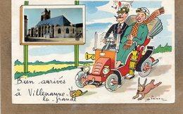 CPA - VILLENAUXE-la-GRANDE (10) - Carte D'illustrateur Jean Preissac Avec Petite Photo Encartée En 1956 - Other Municipalities