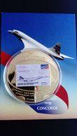 CONCORDE MEDAILLE COMMEMORATIVE PREMIER VOL DE LIGNE 21.01.1976 - Flight Certificates