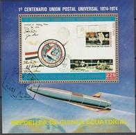 ÄQUAT.GUINEA 1974  MiNr.389  Block 109 - Raumfahrt