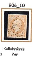 France : Petit Chiffre N°906 : Collobrières ( Var ) Indice 10 - Marcophilie (Timbres Détachés)