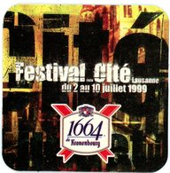 France. 1664 De Kronenbourg. Festival De La Cité Lausanne Du 2 Au 10 Juillet 1999. - Sous-bocks