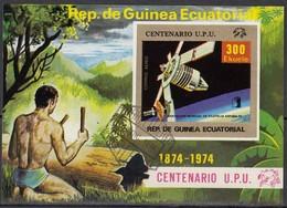 ÄQUAT.GUINEA 1974  MiNr.462  Block 139 - Raumfahrt