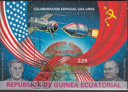 ÄQUAT.GUINEA 1975  MiNr.598  Block 172 - Raumfahrt