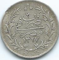 Egypt - Ottoman - Mohammed V - AH1327 / 3 (1911) - 1 Qirsh - KM305 - Scarce - Egypte