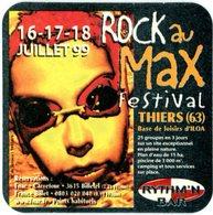 France. Kronenbourg. Rythm'n Bar. Rock Au Max Festival. Thiers (63). Base De Loisirs D'ILOA. 16-17-18 Juillet 1999. - Sous-bocks