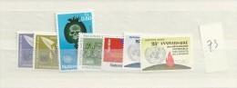 1973 MNH UNO Geneve, Geneva, Genf, Year Complete, Postfris - Ginevra - Ufficio Delle Nazioni Unite
