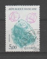 """FRANCE / 1986 / Y&T N° 2432 : """"Minéraux"""" (Fluorite) - Choisi - Cachet Rond - France"""