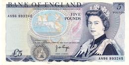 Great Britain P.378a 5 Pounds 1984 Unc - 1952-… : Elizabeth II