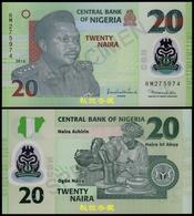 Nigeria 20 Naira (2010), Sign.3:Sanusi-Nda 6 Digit Numbers Rare, Polymer, UNC - Nigeria