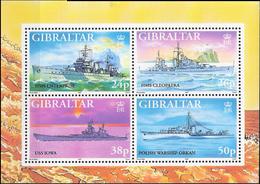 Gibraltar 1997 Warships In World War II (V)  Mi Bloc 29 MNH(**) - Gibraltar