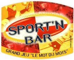 """France. Kronenbourg. Sport'n Bar. Grand Jeu """"le Mot Du Mois"""". Si Le Mot Qui Apparaît Sous La Case à Gratter De Votre ... - Bierviltjes"""