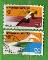 ITALIA ° - 1970 - UNIVERSIADI Di TORINO - Unif. 1125/1126 - Usato,  Vedi Desrizione - 1946-.. Republiek
