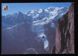 CPM 74 CHAMONIX Mont Blanc Téléphérique Du Brévent Le Mt Blanc L'Aiguille Du Midi Et Glacier Des Bossons - Chamonix-Mont-Blanc
