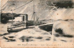 MESSAGERIES MARITIMES PAQUEBOT LOTUS   Par Grosse Mer - Passagiersschepen