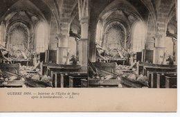 BARCY - INTÉRIEUR DE L'EGLISE APRES LE BOMBARDEMENT - Frankrijk