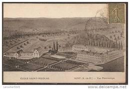 Cpa Igny (91) Ecole Saint-nicolas,vue Panoramique (bon Etat) - Igny