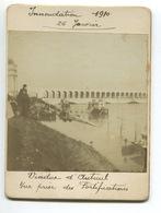 RARE PhotoInondation 1910 26 Javier Viaduc Auteuil Vue Prise Des Fortifications  Animée - District 16