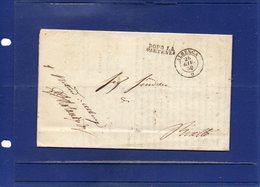 ##(DAN195)-Italy 1850-Piego Completo Di Testo Da Albenga Per Rialto-Bend Letter Full Text From Albenga To  Rialto - Italy
