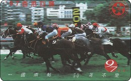 Hongkong  Phonecard Horse Racing  25 $ Autelca - Hong Kong