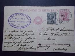 Marcophilie  Cachet Lettre Obliteration -  Timbre - Entier Postal  - 1922 - (2365) - 1900-44 Vittorio Emanuele III