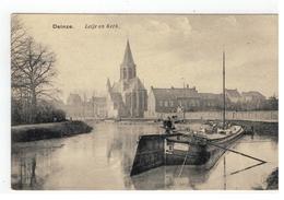 Deinze  Leije En Kerk 1919 - Deinze