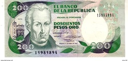 Colombia P.429 200  Pesos 1987  Unc - Colombia