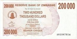 Zimbabwe - Zimbabwe 200,000 Dollars 30-6-2008 Pk 49 Firma Dr. G. Gono Ref 1645 - Zimbabwe