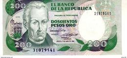 Colombia P.429 200  Pesos 1988  Unc - Colombia