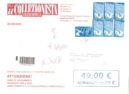 STAMPE RACCOMANDATE ASSEGNO CON 6 X €0,90 E €0,45 TORINO 2006 - 2001-10: Poststempel