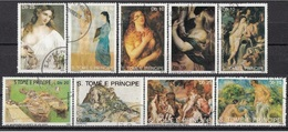 966  S. Tomè E Principe 1990 - Dipinti Di Picasso Rubens Durer Van Gogh - Nude Art Painting Full Set - Nudes