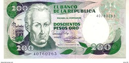 Colombia P.429 200  Pesos 10-11-1985  Unc - Colombie